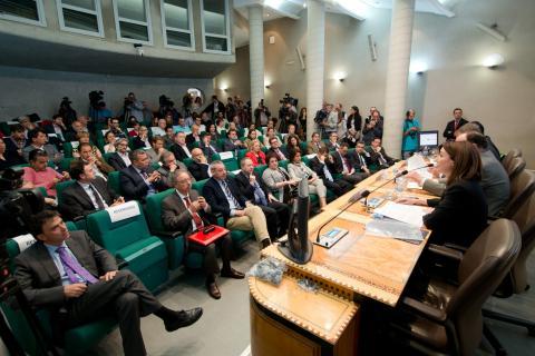 Durante la presentación de la cátedra de civilización islámica