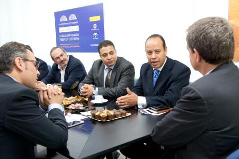 José Luis Rodríguez Zapatero con el equipo de la cátedra de civilización islámica