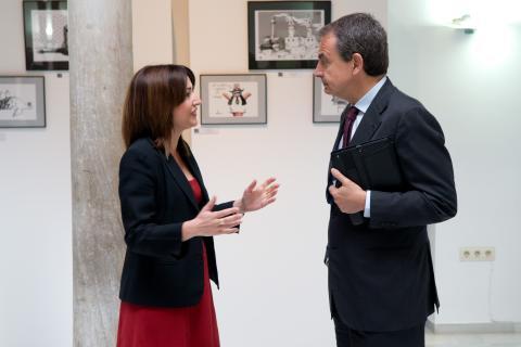 José Luis Rodríguez Zapatero e Inmaculada Marrero
